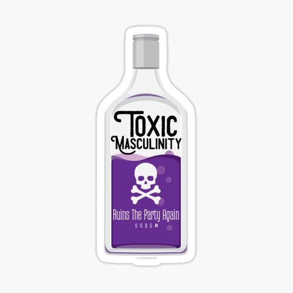 Toxic Masculinity Ruins The Party Again (Purple) Sticker