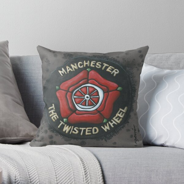 Manchester Twisted Wheel Northern Soul Patch Throw Pillow