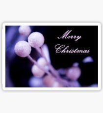 Merry Christmas Postcard Christmas Sticker