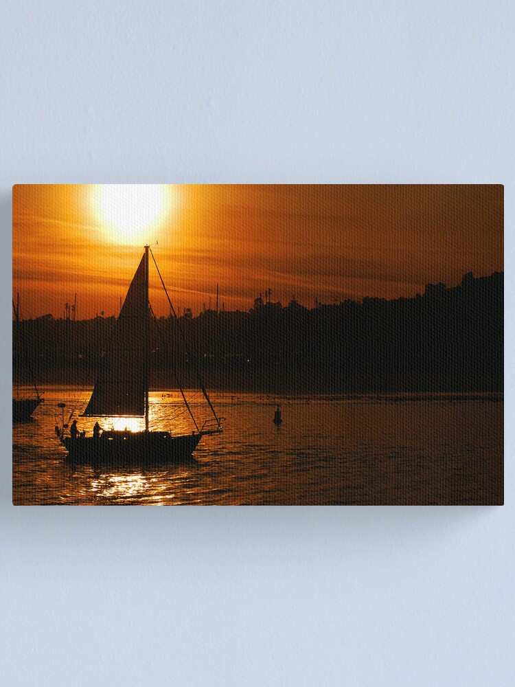 Alternate view of Sunset In The Sail Canvas Print