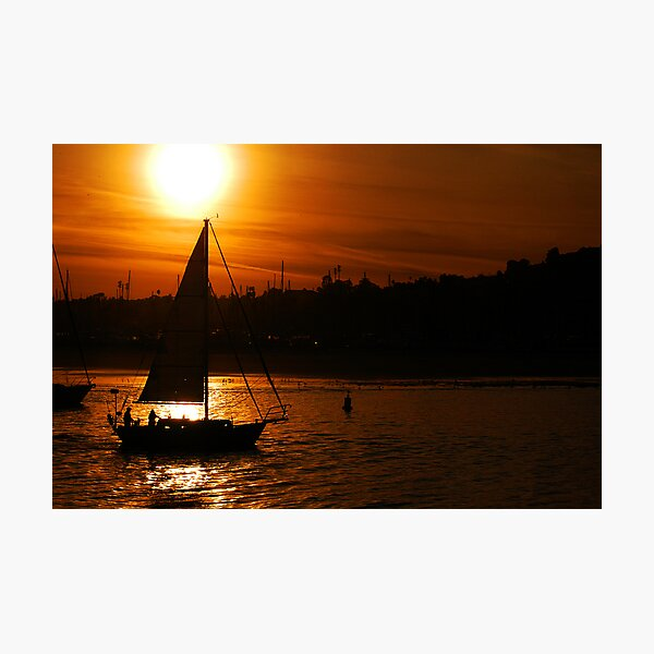Sunset In The Sail Photographic Print