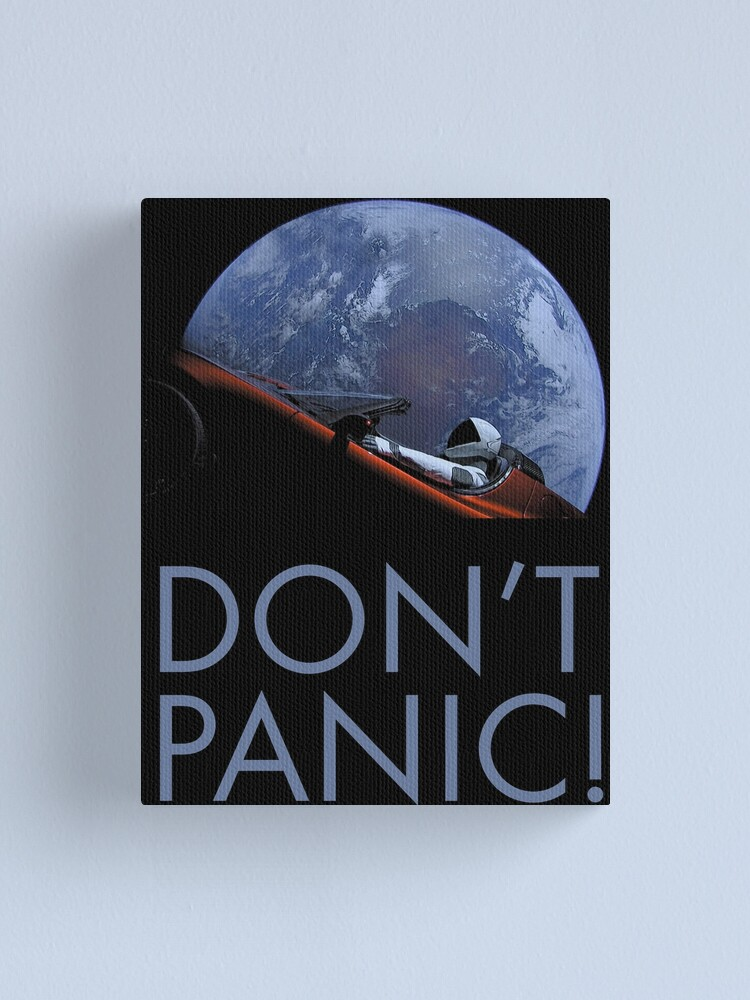 Alternate view of Spacex DON'T PANIC In Space Canvas Print