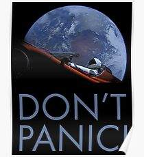 Spacex DON'T PANIC In Space Poster