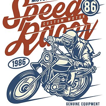 Motorcycle Race - Speed Racer 86 - Vintage Classic Racing by flipper42