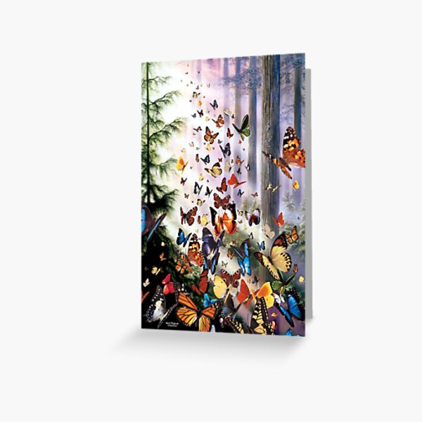 Butterfly Woods Greeting Card