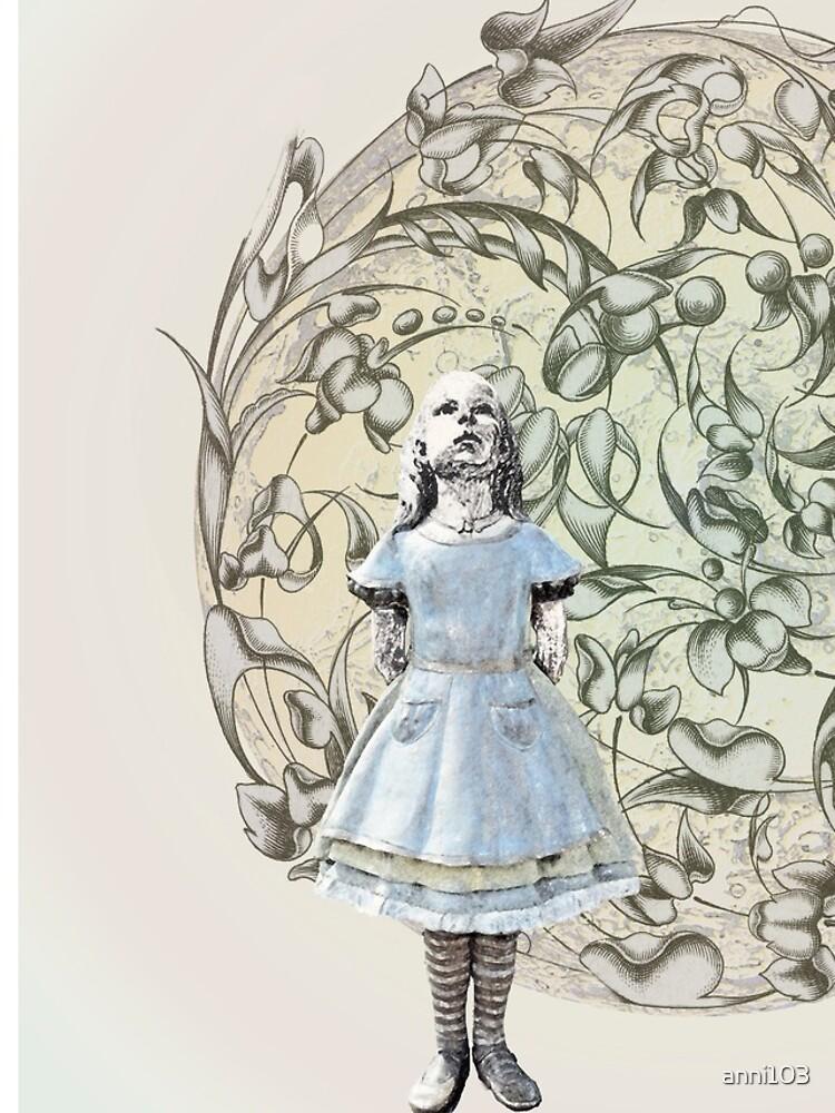 Alice meets White Rabbit on her way to Wonderland by anni103