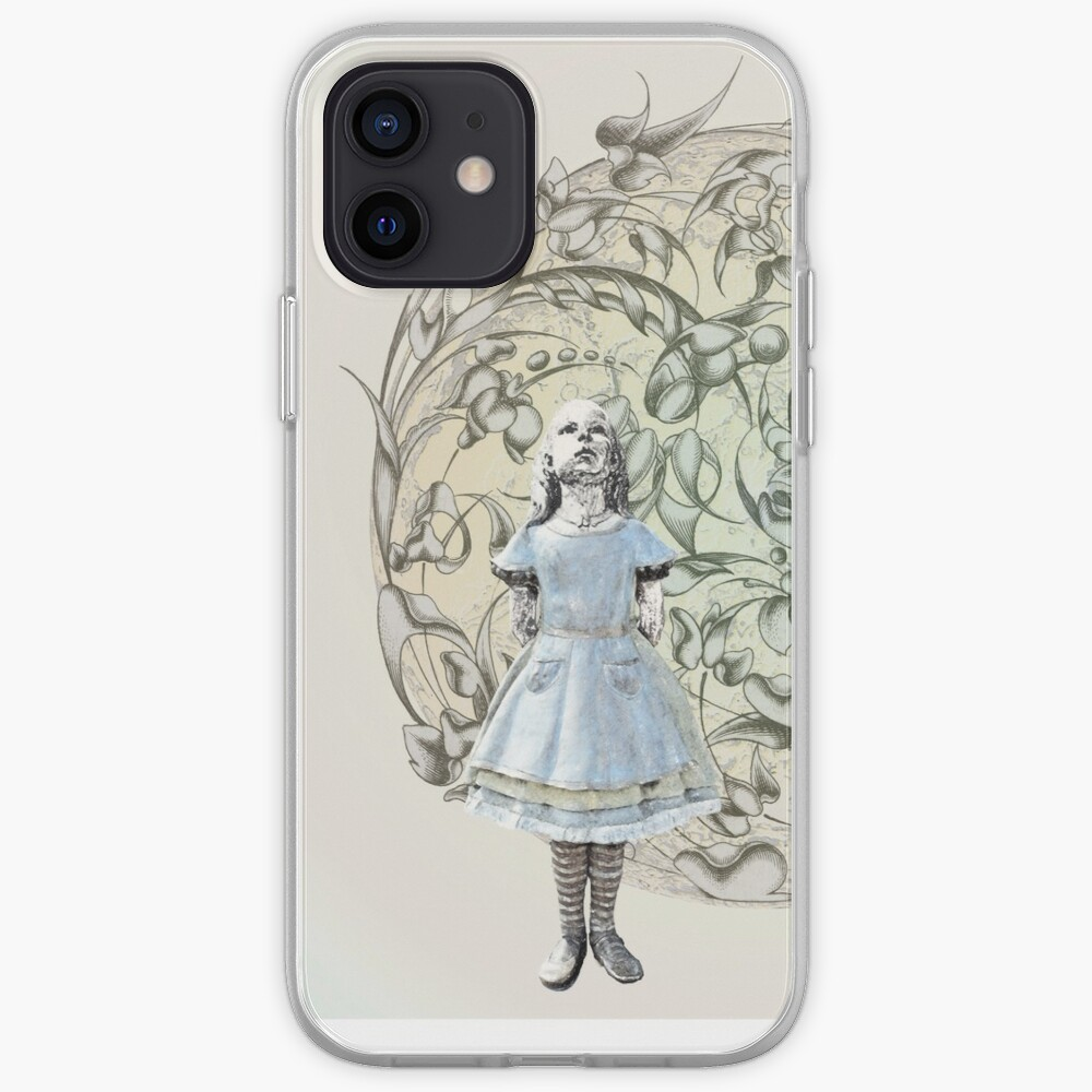 Alice meets White Rabbit on her way to Wonderland iPhone Case & Cover