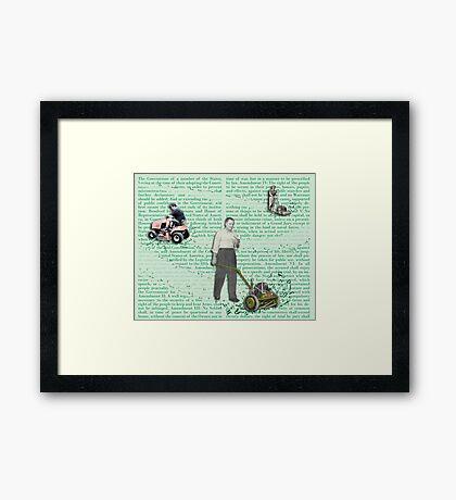 Men Rule the World Framed Print