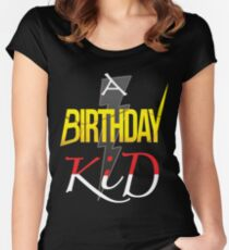 A Funny Birthday Boy Kid T-shirt Women's Fitted Scoop T-Shirt