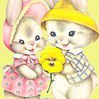 Bunny Girl + Boy by FrankieCat