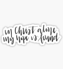 In Christ Alone Sticker