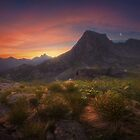 Dawn over the mountain Sleeping Sayan. by Eugenstellar
