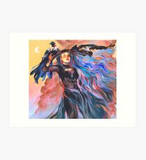 Witch of Changing Skies Art Print