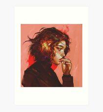 Red Furnace Art Print
