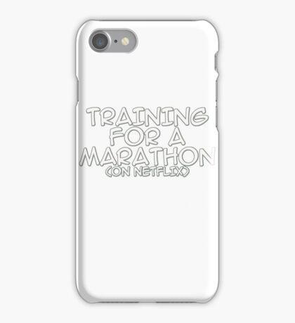 Training for a marathon (on netflix) iPhone Case/Skin