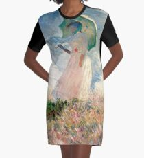 Vestido camiseta Femme à l'ombrelle tournée vers la gauche (Mujer con sombrilla, hacia la izquierda) - Claude Monet