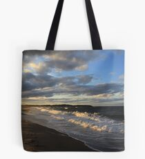 Evening  Seascape Waves - Nova Scotia Canada Seascape Tote Bag