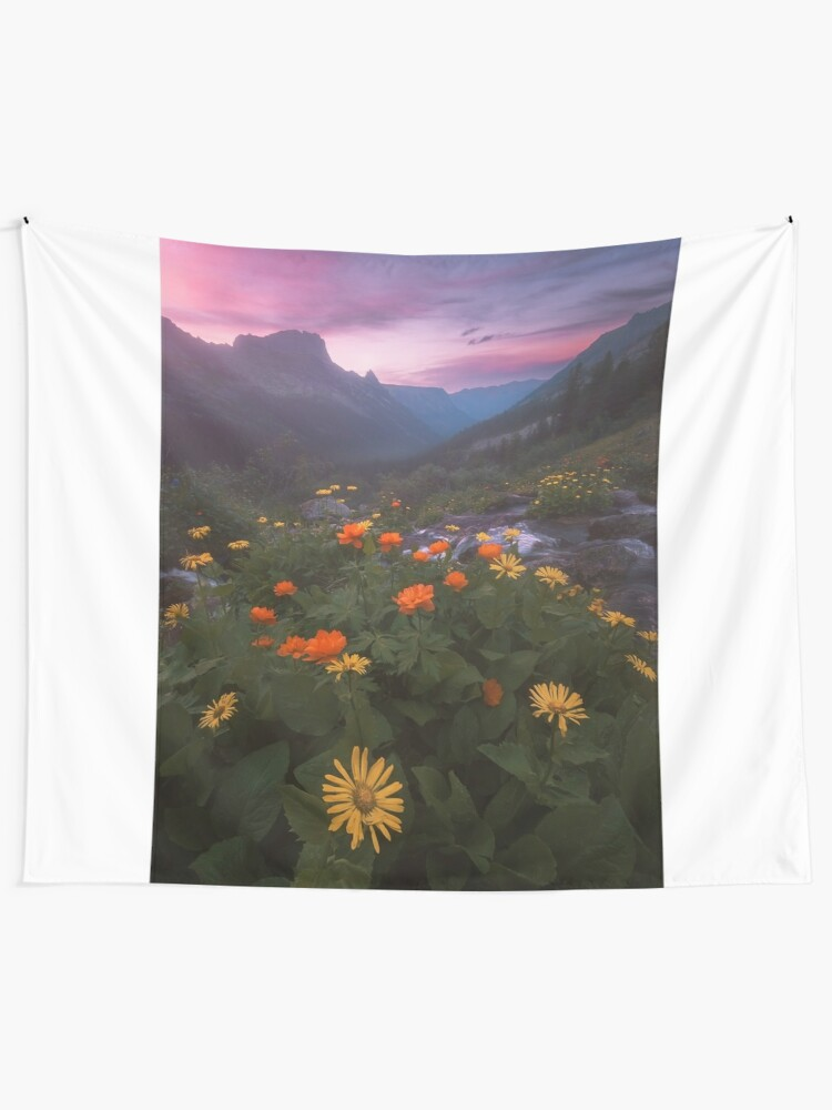 Alternate view of Landscape with flowers. Tapestry