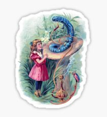 Alice in Wonderland and the Caterpillar  Sticker