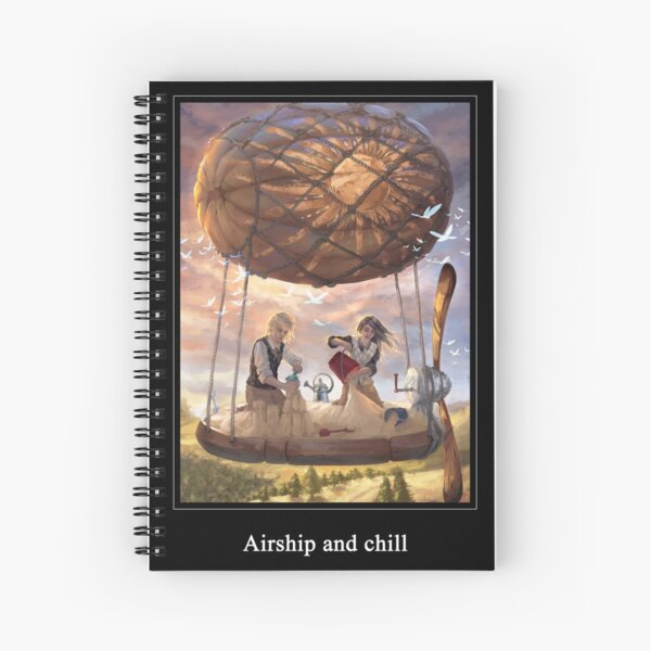 Airship and chill Spiral Notebook