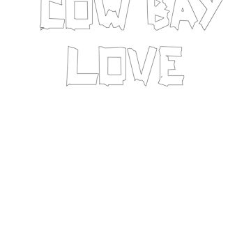 COW BAY LOVE in White by ianlewer