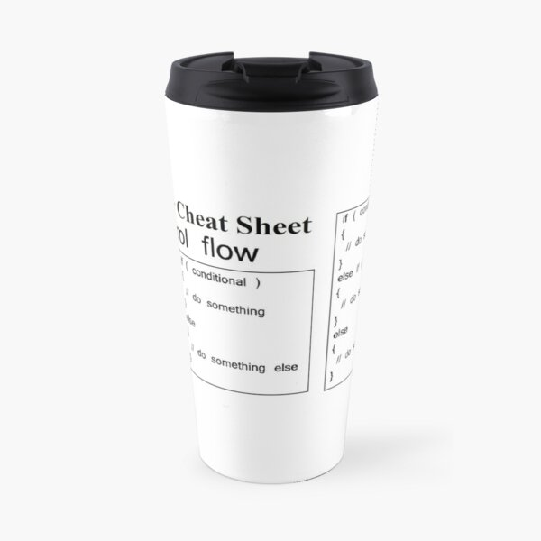 C and C++ Cheat Sheet: Control Flow Travel Mug