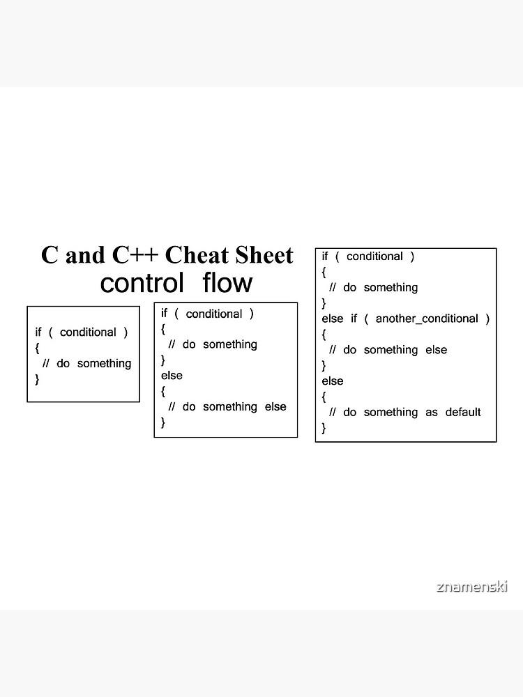 C and C++ Cheat Sheet: Control Flow by znamenski