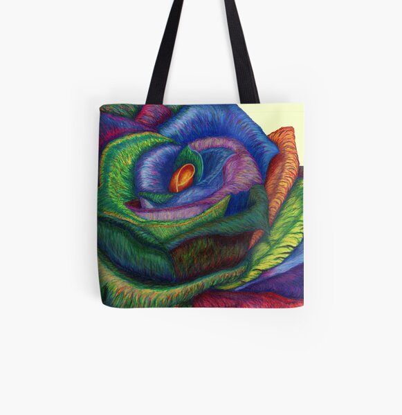 Fancy Me!  (Rainbow Roses) All Over Print Tote Bag