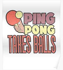 PING PONG Takes Balls Poster