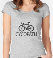 Cycling Funny Design - Cycopath  Women's Fitted Scoop T-Shirt