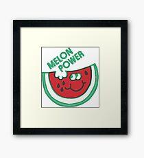 Watermelon Melon Power Funny 1980's Framed Print