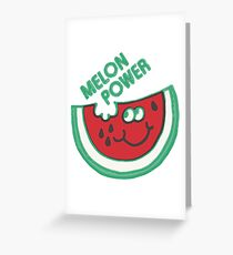 Watermelon Melon Power Funny 1980's Greeting Card