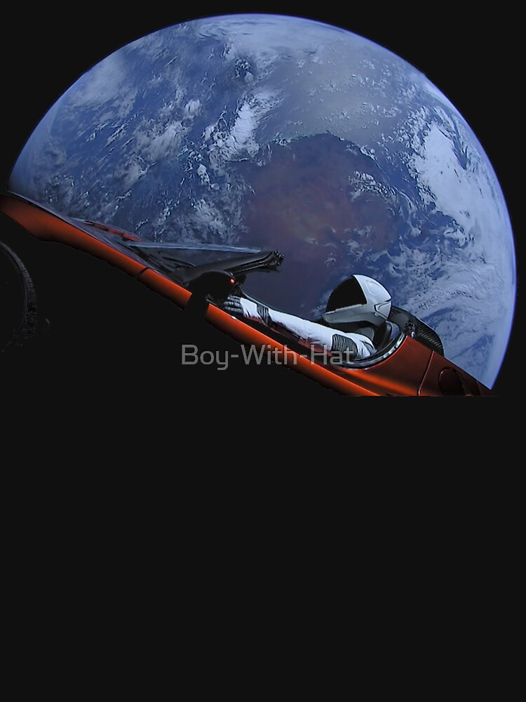 Spacex Starman im Orbit von Boy-With-Hat