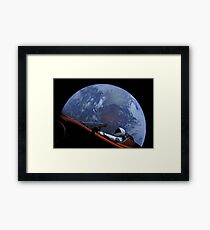 Spacex Starman In Orbit Framed Print