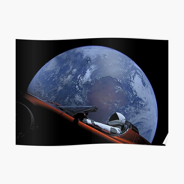Spacex Starman In Orbit Poster