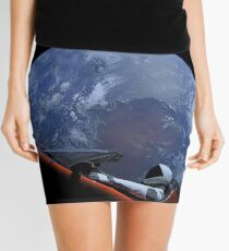 Spacex Starman In Orbit Mini Skirt