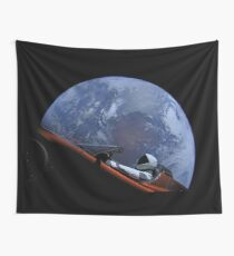 Spacex Starman In Orbit Wall Tapestry