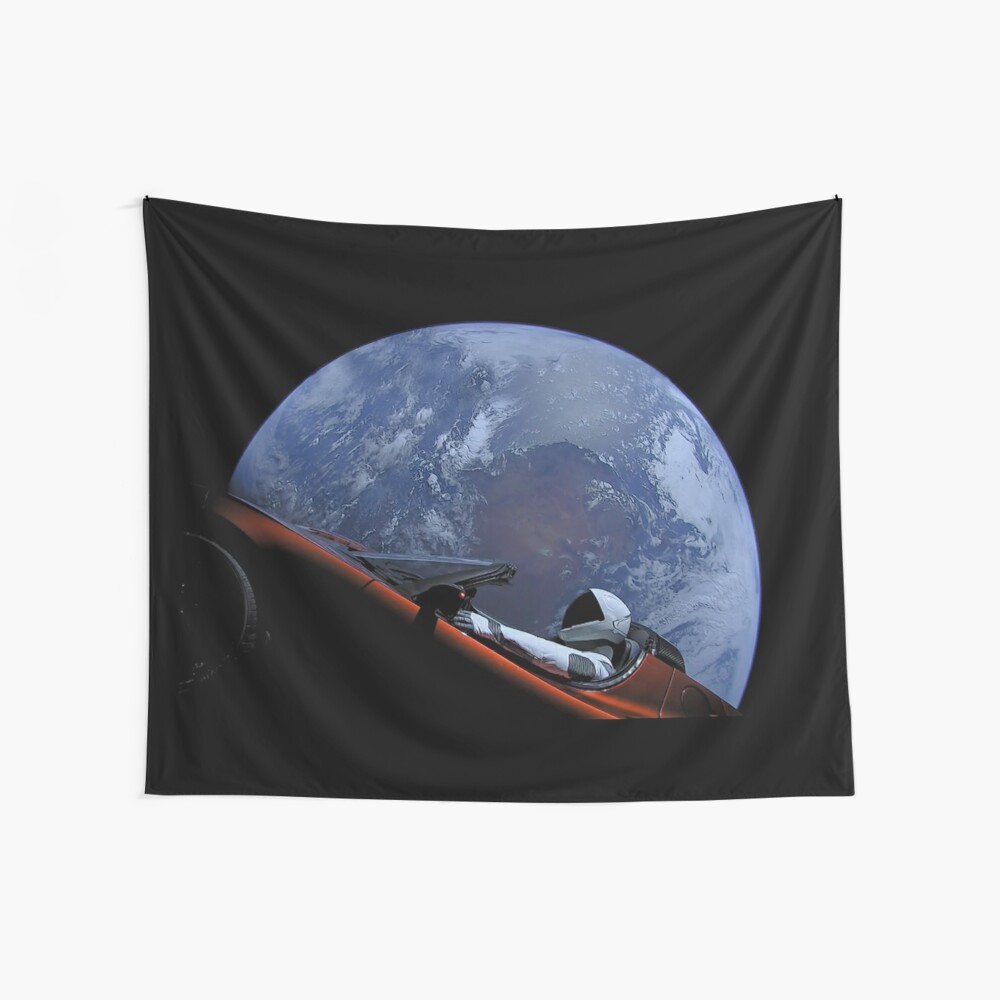 Spacex Starman im Orbit Wandbehang