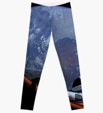 Spacex Starman im Orbit Leggings