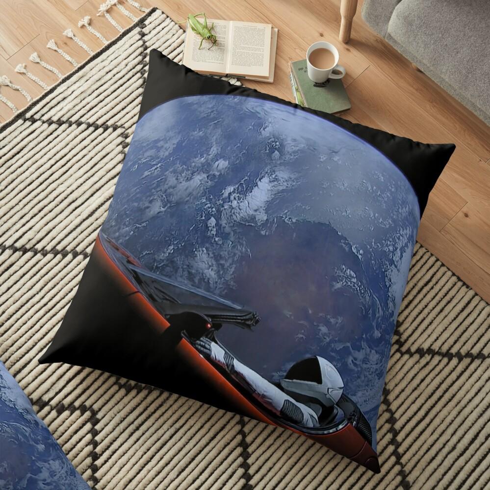 Spacex Starman im Orbit Bodenkissen