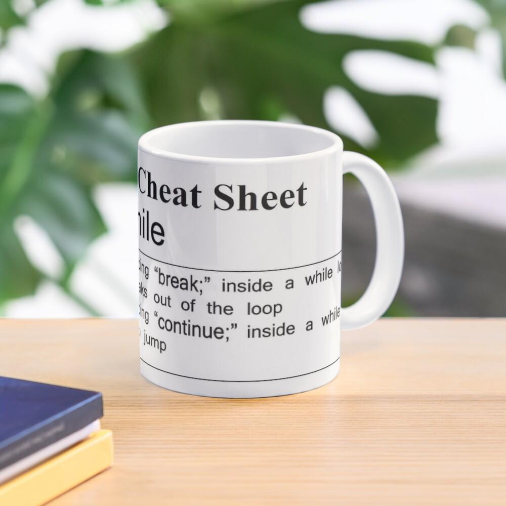 C and C++ Cheat Sheet: While Mug