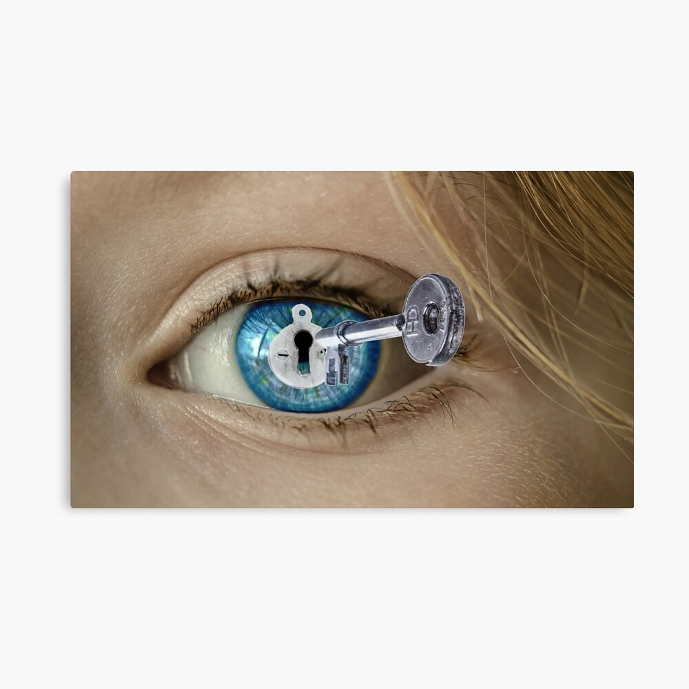 Beautiful Blue Eyes With Lock And Key Poster By Helaine6 Redbubble