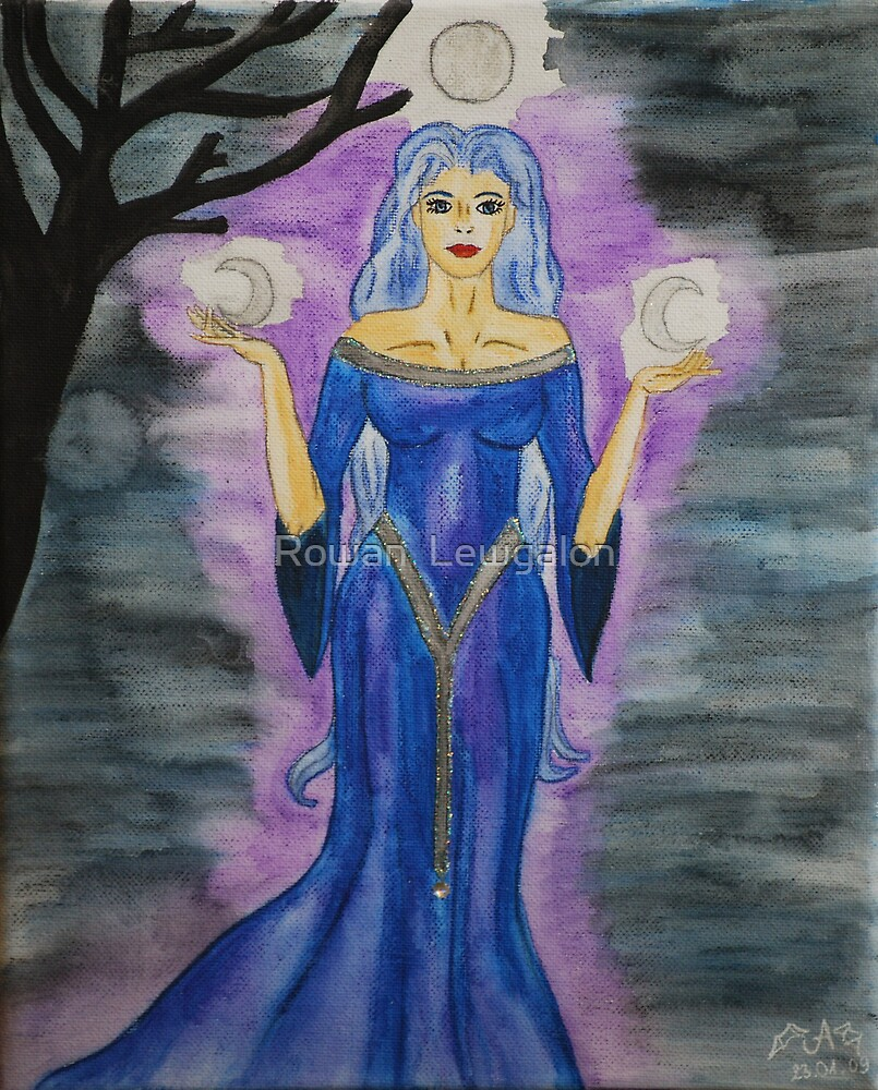 Triple Moon Goddess by Rowan  Lewgalon