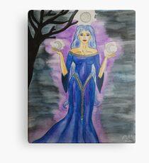 Triple Moon Goddess Metal Print