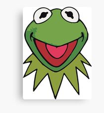 Kermit the Frog Cute Green Canvas Print