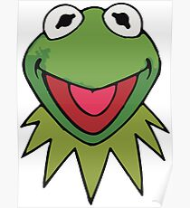 Kermit the Frog Cute Green Poster