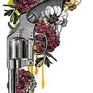 Gun and flowers by Denys Golemenkov