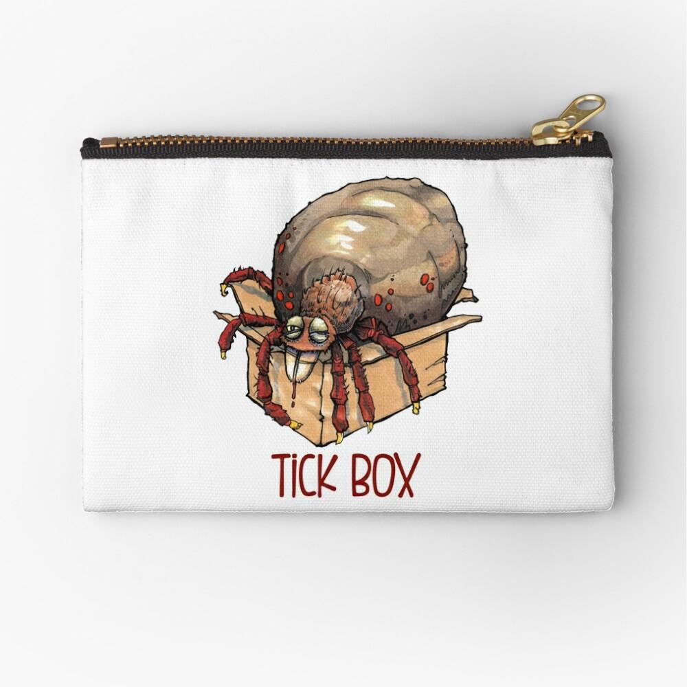 Tick box Zipper Pouch