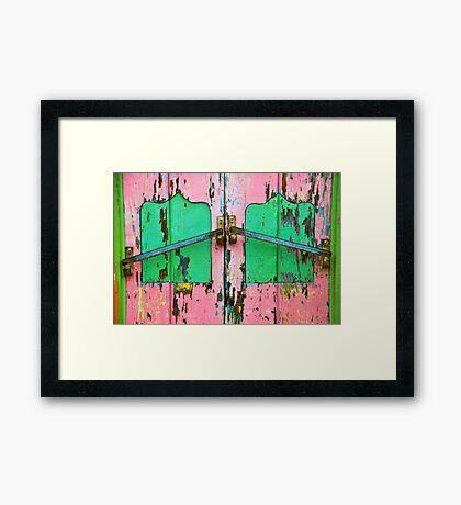 Pink & Green Framed Print