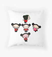 "Pucca ""Independent Cutie"" Pattern Throw Pillow"